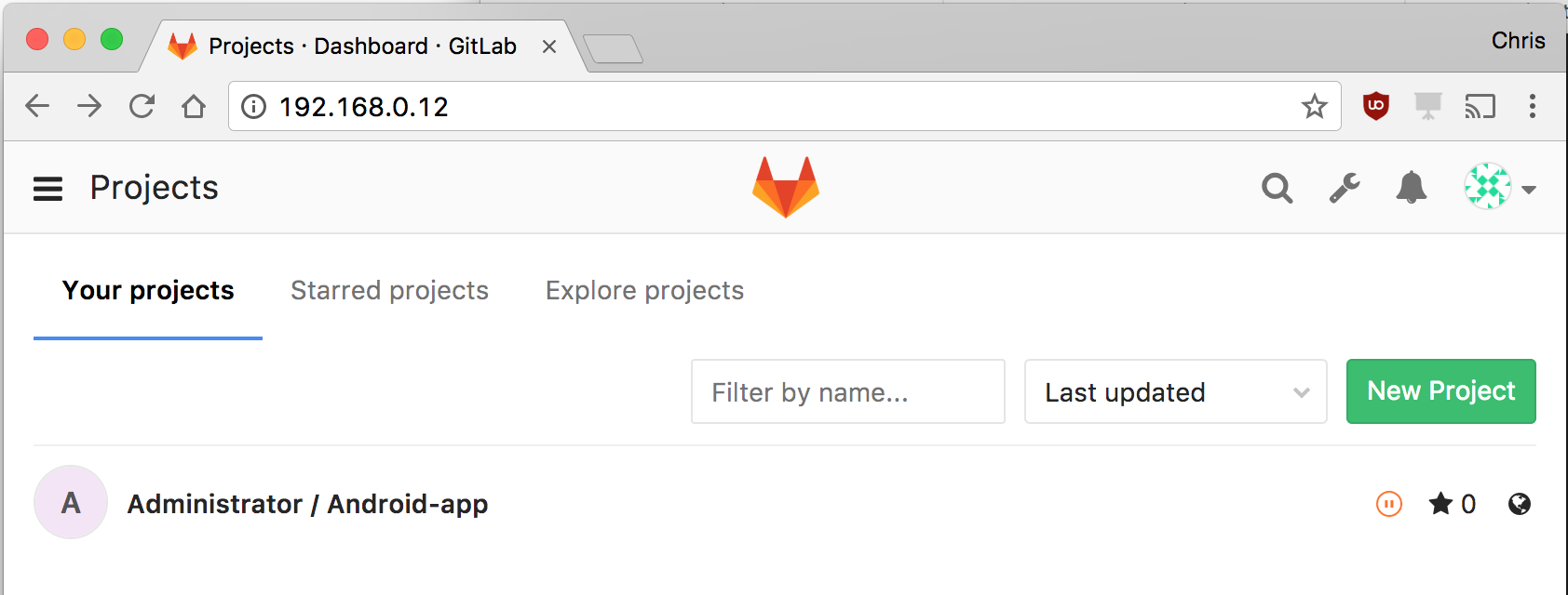 gitlab-homescreen